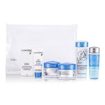 LancomeSet Viaje Blanc Expertt: Fluido Limpiador + Bi Facil + Crema +  Crema Noche + Serum Ojos + UV Expert 6pcs