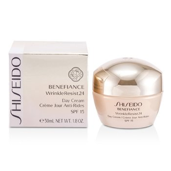 Shiseido Benefiance Krim Pelembut Menyeimbangkan Menentang Kedutan 24 ) SPF 15  50ml/1.8oz