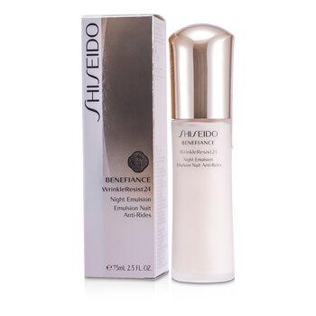 Benefiance WrinkleResist24 - ღამის მოვლაბენეფიანს ნაოჭების საწინააღმდეგო 24 ღამის ემულსია 75ml/2.5oz