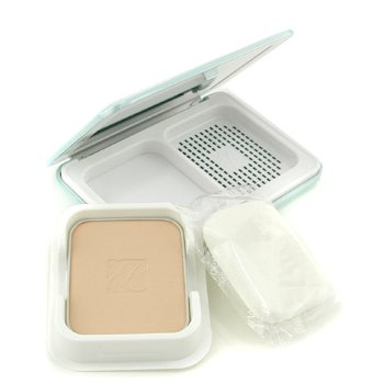 Estee Lauder CyberWhite Brilliant Perfection Full Spectrum Brightening Powder Makeup SPF25 (Case + Refill) - # 02 Warm Porcelain  10g/0.35oz