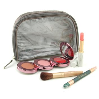 Jane IredaleGrab & Go Just For Me MakeUp Kit (My Steppes Makeup Kit, Mystikol, Just Kissed Lip&Cheek Stain, Brush.....) - # Cool 4pcs+1 bag