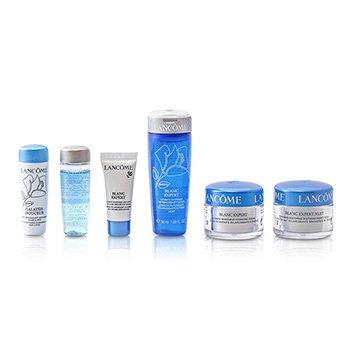 Lancome Blanc Expert Travel Set: Bi Facil + Galateis Douceur + Beauty Lotion + Cream + Night Cream + Eye Serum  6pcs