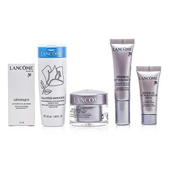 Lanc�meKit de viagem : Cleansing Fluid + Renergie Lift Creme  + Serum Renergie Lift  + Creme p/ os olhos Renergie Lift  + Genifique 5pcs