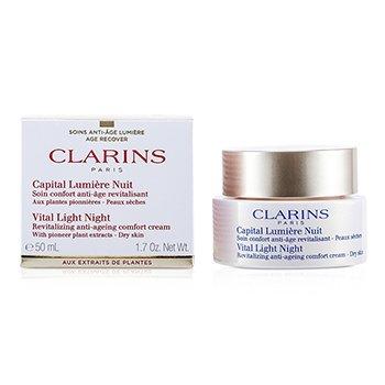 Clarins Vital Light Night Revitalizing Anti-Aging Comfort Cream 50ml1.7oz