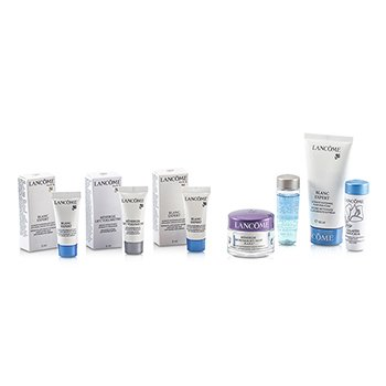 Lancome Travel Set: Purifying Foam + Galateis Douceur + Bi-Facil + Renergie Serum + Firming Cream + 2x Eye Serum  7pcs