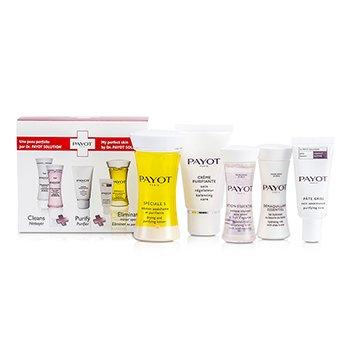 Payot Travel Set: Speciale 5 + Creme Purifiante + Demaquillant Essentiel + Lotion Essentielle + Pate Grise  5pcs