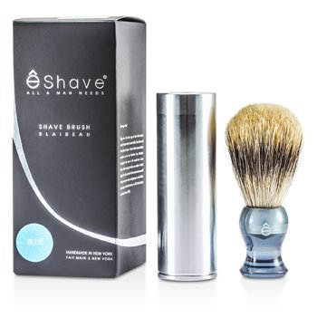 EShave Travel Brush Fine With Canister - Blue  1pc