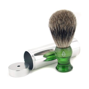 EShaveTravel Brush Fine With Canister - Green 1pc