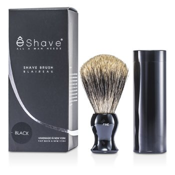 EShaveTravel Brush Fine With Canister - Black 1pc