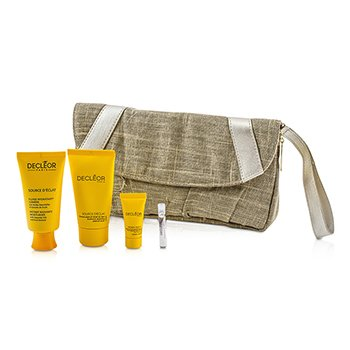 DecleorSource D'Eclat Set: Moisturiser + Peel-Off Mask + Night Balm + Aromessence Neroli + Bag 4pcs+1bag
