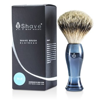 EShave Finest Badger Long Shaving Brush - Blue 1pc 12302913921