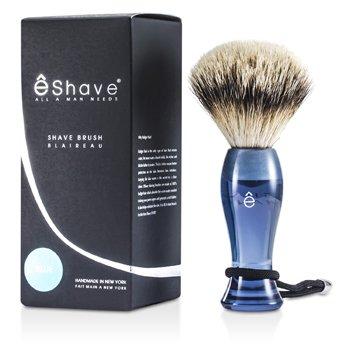 EShave Shave Brush Silvertip - Blue  1pc