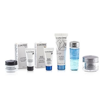Lancome Travel Set: Bi Facil + Gel Eclat + Cream + Genifique Concentrate + Eye Concentrate + Spot Eraser  6pcs