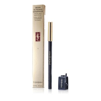 Yves Saint Laurent Dessin Du Regard Waterproof Long Lasting Eye Pencil - No. 1 Black Ink  1.2g/0.04oz