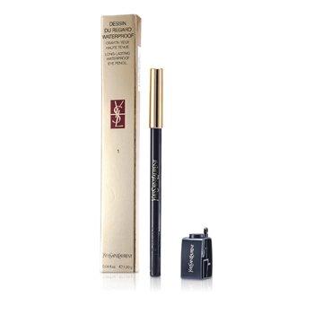 Yves Saint Laurent Dessin Du Regard Waterproof Long Lasting Eye Pencil - No. 1 Black Ink  1.2g/0.04oz