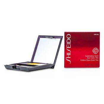 Shiseido Luminizing Satin Eye Color Trio - Pewarna Mata - # OR302 Fire  3g/0.1oz