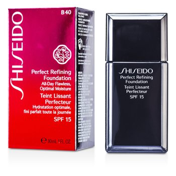 Shiseido Perfect Refining Base Maquillaje SPF15 - # B40 Natural Fair Beige  30ml/1oz