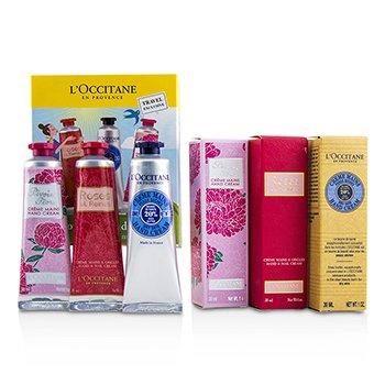 L'OccitaneLovelier Hands Kit: 2x Rose Velvet 30ml + 2x Pivoine Flora 30ml + 2x Manteca Shea 30ml 6x30ml/1oz