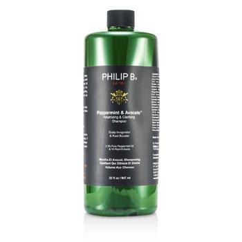 Philip B Peppermint & Avocado Champ� Aclarador y Volumen  947ml/32oz