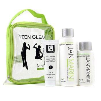Jan MariniTeen Clean 5% Set: Skin Wash 119ml/4oz + Acne Treatment Lotion 60ml/2oz + Protectant 30ml/1oz 3pcs