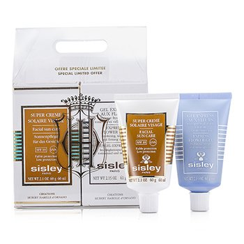 Sisley Face Solar Kit: Express Flower Gel + Facial Sun Care SPF 10  2pcs