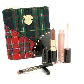 タータンテールダズルリップバッグ ( 1x 口紅, 1x ダズルグラスリップグロス, 1x リップペンシル, 1x バッグ )3品+バッグ
