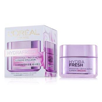 L'Oreal Hydra Fresh Hydration+ Antiox Active Supreme Emulsion 50ml/1.7oz