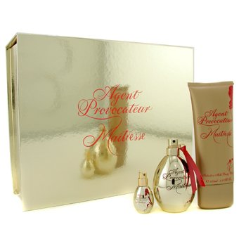 Agent Provocateur Maitresse Coffret: Eau De Parfum Spray 50ml/1.7oz + Body Wash 100ml/3.3oz + Eau De Parfum Spray 5ml/0.17oz 3pcs