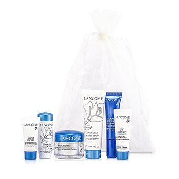 Lancome Blanc Expert Travel Set: Cream + Spot Eraser + Eye Serum + Gel Eclat + Galateis Douceur + UV Expert  6pcs
