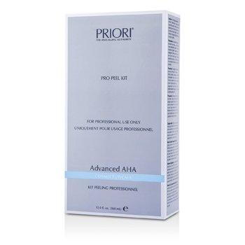 PrioriAdvanced AHA PRO Peel Kit (Salon Product) : Pre-Peel Solution + Multi-Layer Peeling Gel 2x180ml/6oz