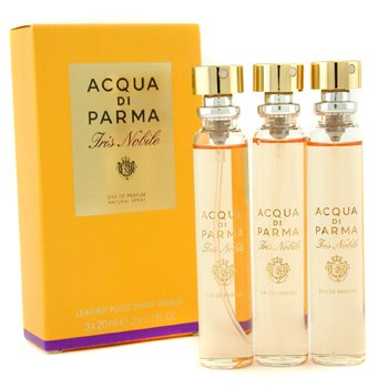 Acqua Di ParmaIris Nobile Leather Purse Spray Refills Eau De Parfum 3x20ml/0.7oz