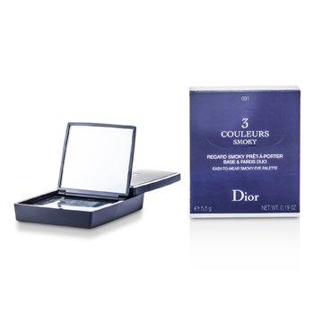 Christian Dior 3 Couleurs Smoky Ready To Wear Paleta Ojos - # 091 Smoky Black  5.5g/0.19oz