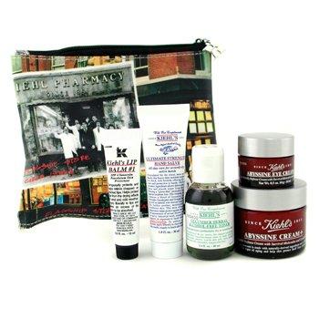 Kiehl'sThe Abyssine Anti Aging Set: Cream+ + Toner + Hand Salve + Eye Cream + Lip Balm + Bag 5pcs+1bag