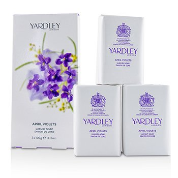 Yardley April Violets Luxury Soap  3x100g/3.5oz