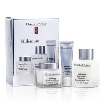 Elizabeth Arden Millenium Set: Day Renewal Emulsion + Night Renewal Cream + Eye Renewal Cream 3pcs