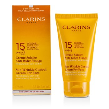 Clarins Sun Wrinkle Control Cream Moderate Protection For Face SPF 15  75ml/2.7oz
