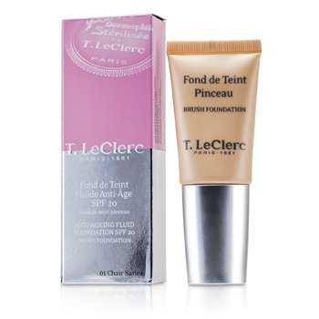 T. LeClerc Anti Ageing Fluid Foundation SPF20 - # 01 Chair Satine  30ml/1oz