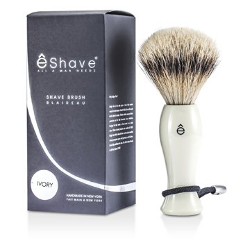 EShave Shave Brush Silvertip - White  1pc