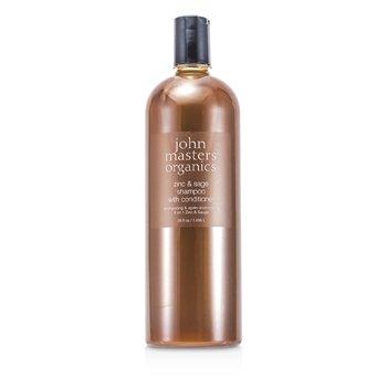 John Masters OrganicsZinc & Sage Shampoo With Conditioner 1035ml/35oz