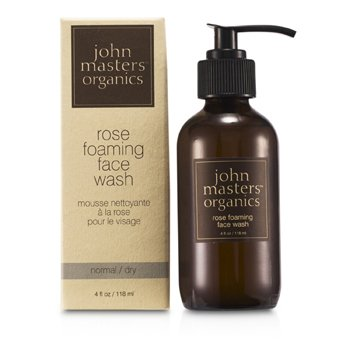 John Masters Organics Rose Foaming Face Wash (For Normal/ Dry Skin)  118ml/4oz