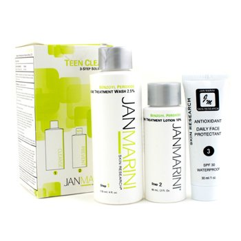 Jan MariniSet Teen Clean 10% : Jab�n 119ml/4oz + Tratamiento Loci�n Acn� 60ml/2oz + Protector 30ml/1oz 3pcs