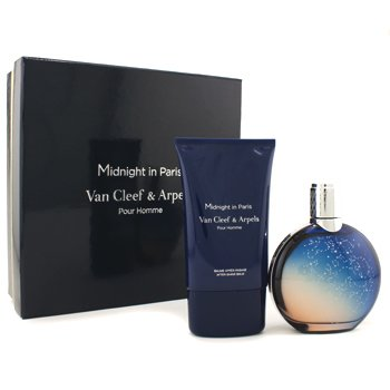 Van Cleef & Arpels Midnight In Paris Coffret: Eau De Toilette Spray 125ml/4.2oz + After Shave Balm 100ml/3.3oz (Square Box)  2pcs