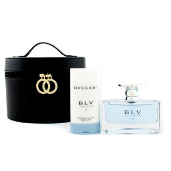 Bvlgari Blv II Coffret: Eau De Parfum Spray 50ml/1.7oz + Body Lotion 75ml/2.5oz + Pouch  2pcs+1pouch