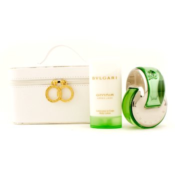 Bvlgari Omnia Green Jade Coffret: Eau De Toilette Spray 65ml/2.2oz + Body Lotion 75ml/2.5oz + Pouch  2pcs+1pouch