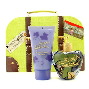 Lolita Lempicka Lolita Travel Case Coffret: Eau De Parfum Spray 100ml/3.4oz + Perfumed Velvet Cream 75ml/2.5oz + Case  2pcs+1case