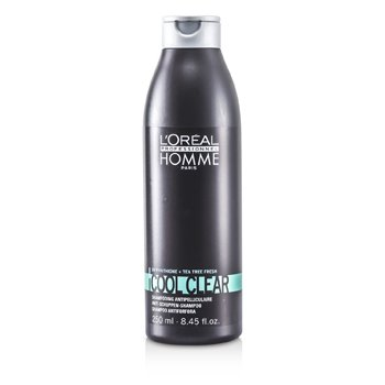 L'OrealProfessionnel Homme Cool Clear Anti-Schuppen Champ� 250ml/8.45oz