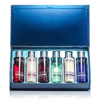 Travel SetBathing Treasures Kit: Hand & Body Wash + Body Wash + Indulgent Bath Elixir + Shower Gel + Shower Cream +Relaxing Bath Elixir 6pcs