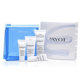 Payot Set Hydro: Crema Hidrataci�n 24 15ml + Hidrataci�n 24 Cuerpo 25ml + Crema Manos  10ml + B�lsamo Labial 5ml  4pcs+1bag