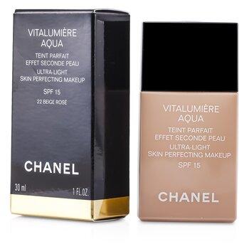 Chanel Vitalumiere Aqua Ultra M�u S�ng Da Perfecting Make Up SFP 15 - # 22 Beige Rose  30ml/1oz