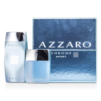Loris AzzaroChrome Sport Coffret: Eau De Toilette Spray 50ml/1.7oz + Icy Shower Gel 200ml/6.8oz 2pcs